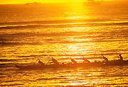 Sunset , Outrigger Canoe<br />