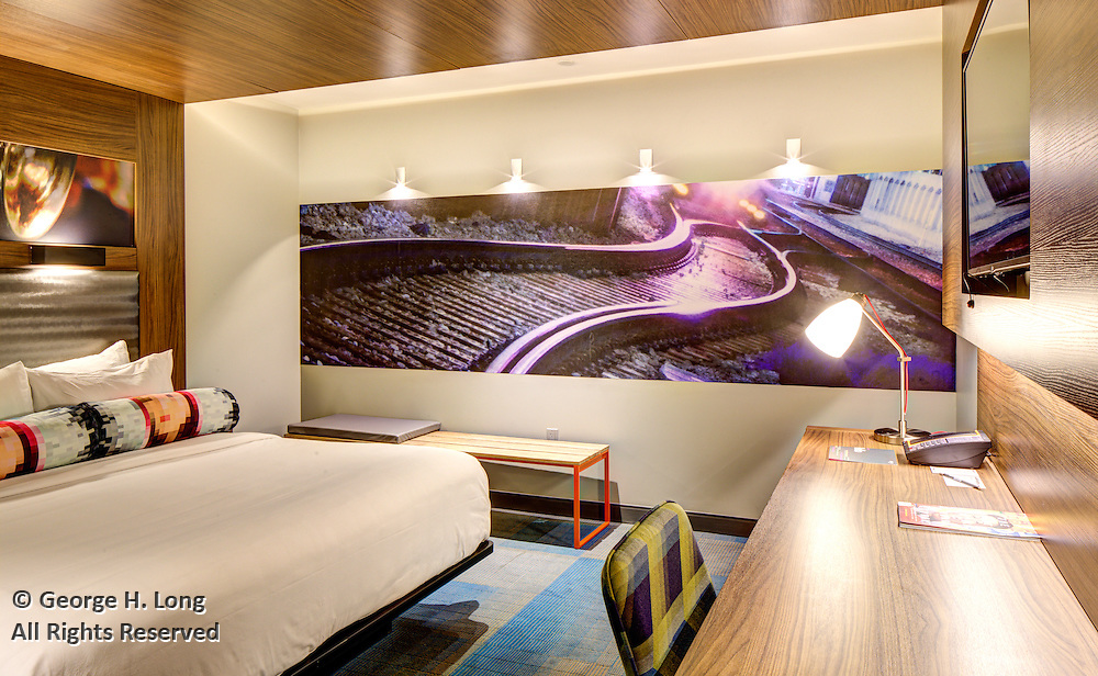 guest room in the Aloft Hotel, 225 Baronne Street in New Orleans, Louisiana