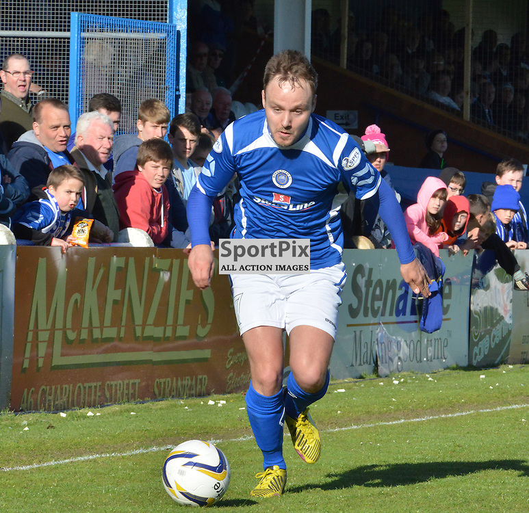 Sean Winter of Stranraer tries to find a way to inspire his team against Morton.....(c) BILLY WHITE | SportPix.org.uk