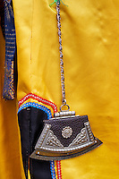 Mongolie, province de Uvs, région de l'ouest, detail d'un costume mongol, briquet traditionnel // Mongolia, Uvs province, western Mongolia, detail of the mongolian costume, traditionnal lighter