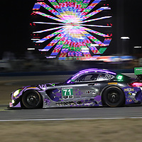 January 25, 2018 - Daytona Beach, Florida, USA:  The P1 Motorsports/ Sonic Tools Mercedes-AMG GT3 America races through the turns at the Rolex 24 Hours At Daytona at Daytona International Speedway in Daytona Beach, Florida.