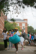Led by Oleaser Johnson of Cleveland, Ohio, students move into Tiernan Hall on move-in day for new students at the University of Rochester on Tuesday, August 25, 2015.