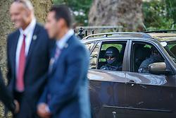 © Licensed to London News Pictures. 10/09/2015. London, UK. Metropolitan Police SO19 teams protecting Israeli Prime Minister Benjamin Netanyahu in Downing Street, London on Thursday, September 10, 2015. Photo credit: Tolga Akmen/LNP