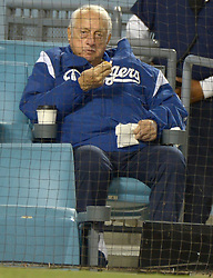 June 27, 2017 - Los Angeles, California, U.S. - Hall of Fame and former Los Angeles Dodgers manager Tommy Lasorda looks on during a Major League baseball game between the Los Angeles Angels and the Los Angeles Dodgers at Dodger Stadium on Tuesday, June 27, 2017 in Los Angeles. (Photo by Keith Birmingham, Pasadena Star-News/SCNG) (Credit Image: © San Gabriel Valley Tribune via ZUMA Wire)
