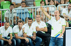 Jure Zdovc, head coach of Slovenia during friendly basketball match between National teams of Slovenia and Australia, on August 4, 2015 in Arena Stozice, Ljubljana, Slovenia. Photo by Vid Ponikvar / Sportida
