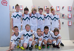 Young football players at visit  of Slovenian National Football team in Mobitel center, on May 19, 2010 in Ciytpark, BTC, Ljubljana, Slovenia. (Photo by Vid Ponikvar / Sportida)