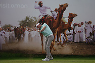 Sebastian Heisele (GER) on the 8th during Round 1 of the Oman Open 2020 at the Al Mouj Golf Club, Muscat, Oman . 27/02/2020<br /> Picture: Golffile   Thos Caffrey<br /> <br /> <br /> All photo usage must carry mandatory copyright credit (© Golffile   Thos Caffrey)