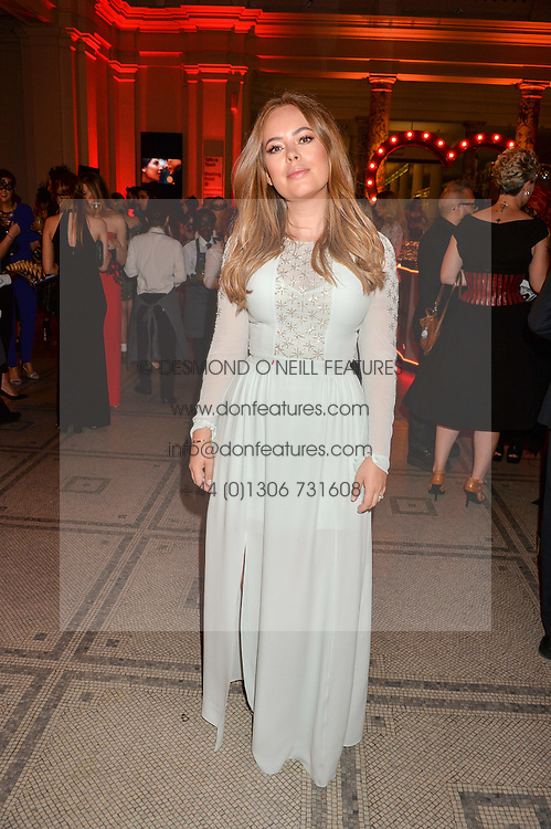 TANYA BURR at the Revlon Choose Love Masquerade Ball held at the V&A Museum, Cromwell Road, London on 21st July 2016.