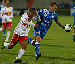 04.12.2011, Stadion, Wiener Neustadt, AUT, 1. FBL, SC Wiener Neustadt vs RB Salzburg, im Bild Christian Ramsebner, (SC Magna Wiener Neustadt, #25) vs Leonardo, (Red Bull Salzburg, #30)  during the Austrian Bundesliga Match, SC Wiener Neustadt against RB Salzburg, Stadium, Wiener Neustadt near Vienna, Austria on 2011-12-04, EXPA Pictures © 2011, PhotoCredit: EXPA/ S. Woldron