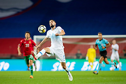 Miha Mevlja of Slovenia during football match between National teams of Slovenia and Bulgaria in Group stage of UEFA Nationals League, on September 6, 2018 in SRC Stozice, Ljubljana, Slovenia. Photo by Urban Urbanc / Sportida