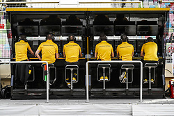 April 27, 2018 - Baku, Azerbaijan - Renault F1 RS18 Renault Sport F1 team, pitwall during the 2018 Formula One World Championship, Grand Prix of Europe in Azerbaijan from April 26 to 29 in Baku - Photo  /  Motorsports: World Championship; 2018; Grand Prix Azerbaijan, Grand Prix of Europe, Formula 1 2018 Azerbaijan Grand Prix, (Credit Image: © Hoch Zwei via ZUMA Wire)