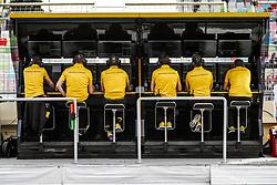 April 27, 2018 - Baku, Azerbaijan - Renault F1 RS18 Renault Sport F1 team, pitwall during the 2018 Formula One World Championship, Grand Prix of Europe in Azerbaijan from April 26 to 29 in Baku - Photo  /  Motorsports: World Championship; 2018; Grand Prix Azerbaijan, Grand Prix of Europe, Formula 1 2018 Azerbaijan Grand Prix, (Credit Image: © Hoch Zwei via ZUMA Wire)