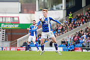 Chesterfield's Jon Nolan (18) during the EFL Sky Bet League 1 match between Chesterfield and Scunthorpe United at the b2net stadium, Chesterfield, England on 22 October 2016. Photo by Richard Holmes.