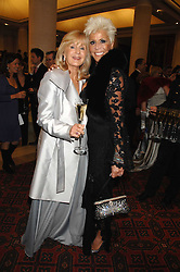 Left to right, LIZ BREWER and LISA VOICE at a Gala dinner in aid of Chickenshed held at the Guildhall, City of London on 29th October 2007.<br />
