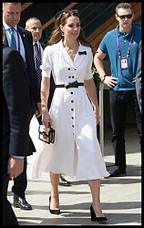 July 2, 2019 - London, London, United Kingdom - Image licensed to i-Images Picture Agency. 02/07/2019. London, United Kingdom. The Duchess of Cambridge arriving for the second day of the Wimbledon Tennis Championships in London. (Credit Image: © Stephen Lock/i-Images via ZUMA Press)