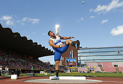 July 10, 2018 - Tampere, Suomi Finland - 180710 Friidrott, Junior-VM, Dag 1: Odysseas Mouzenidis GRE competes in Shot Put  during the IAAF World U20 Championships day 1 at the Ratina stadion 10. July 2018 in Tampere, Finland. (Newspix24/Kalle Parkkinen) (Credit Image: © Kalle Parkkinen/Bildbyran via ZUMA Press)