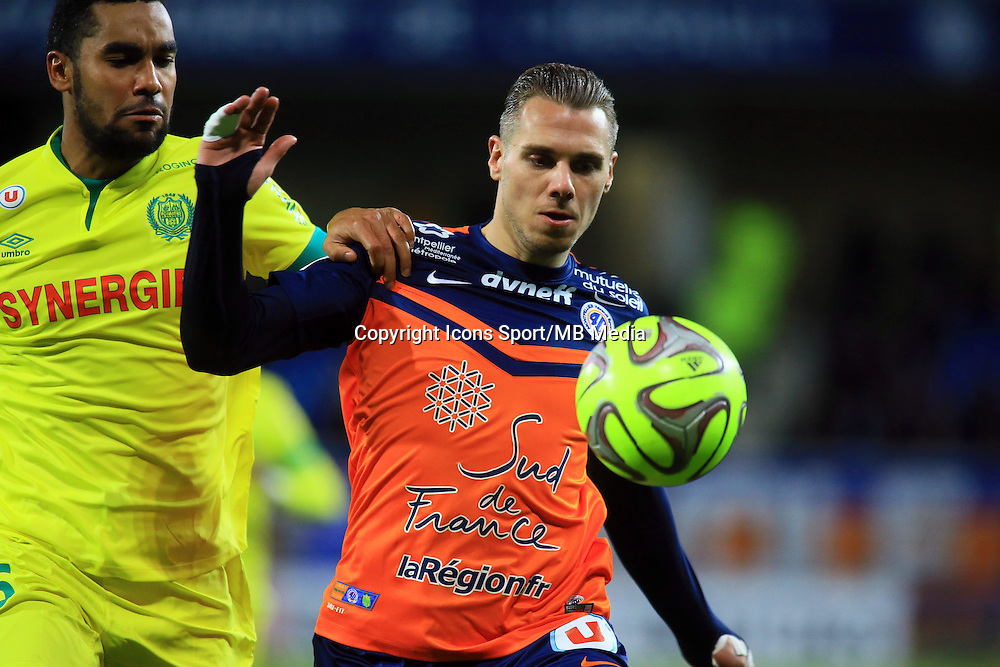 Kevin BERIGAUD  - 24.01.2015 - Montpellier / Nantes  - 22eme journee de Ligue1<br />