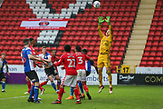 Charlton Athletic goalkeeper Ben Amos (1) makes a save during the EFL Sky Bet League 1 match between Charlton Athletic and Blackburn Rovers at The Valley, London, England on 28 April 2018. Picture by Toyin Oshodi.