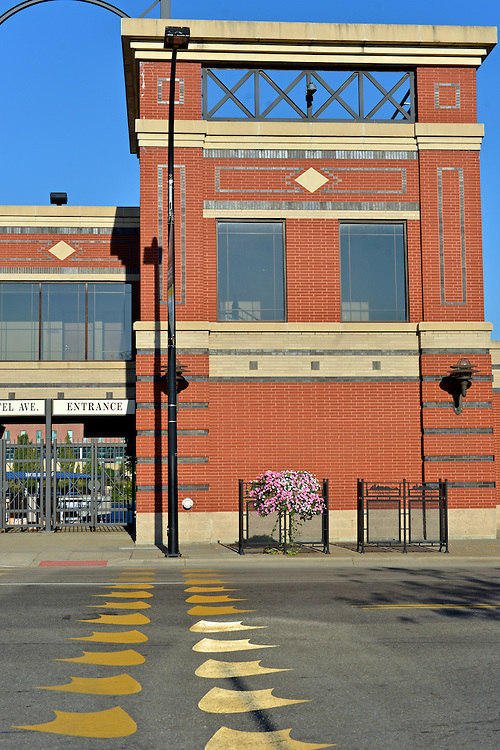 Street view of Canal Park, home of the Akron RubberDucks.