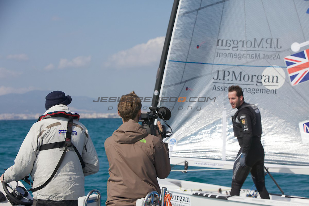 Ben Ainslie team training in Mallorca 3rd March 2012 ©jrenedo