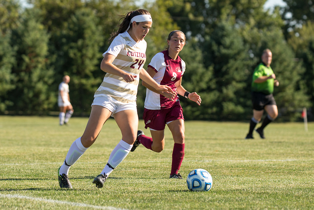 Kutztown University women's soccer team takes on Lock Haven University on Wednesday, September 7, 2016, in Kutztown, PA. Kutztown won, 2-1.