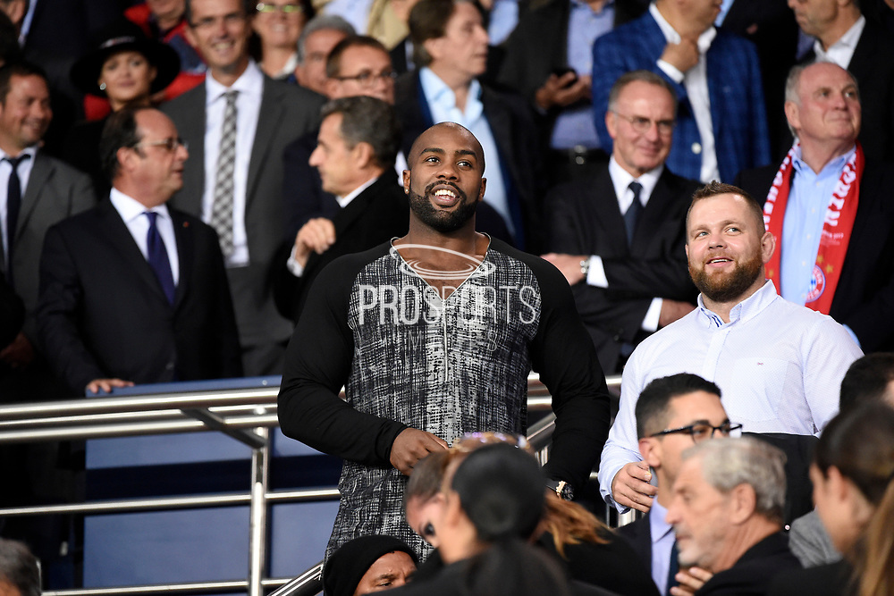 Teddy Riner attends the UEFA Champions League, Group B football match between Paris Saint-Germain and Bayern Munich on September 27, 2017 at Parc des Princes stadium in Paris, France - Photo Jean Marie Hervio / Regamedia / ProSportsImages / DPPI