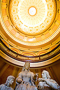 The rotunda in the State Capitol in Sacramento, California.