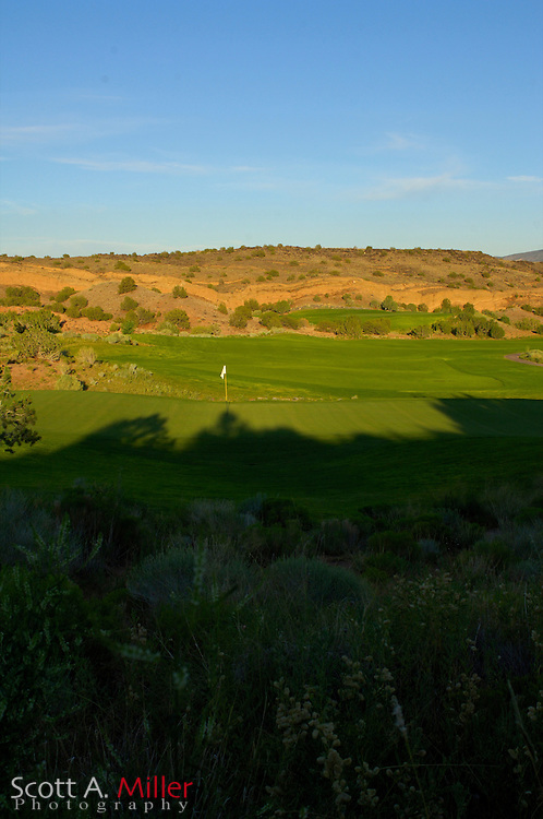 Albuquerque, N.M.:  July 9, 2006 -  No. 12 on the Twin Warriors Golf Club in Santa Ana Pueblo, N.M...                ©2006 Scott A. Miller