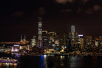 cityscape at night on Tsim Sha Tsui in Hong Kong