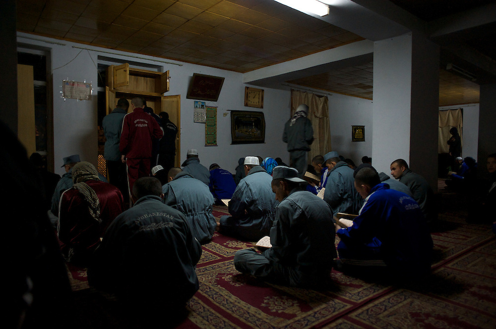 November 14, 2012 - Kabul, Afghanistan: Afghan National Police (ANP) cadets attend the first pray of the day at the mosque in the Afghan Nacional Police Academy...ANP Academy trains 1250 cadets at the time during a period of four years. Every year, five hundred new recruits are selected, out of more than nine thousand of candidates, to join the academy and other five hundred graduate. Fifteen per cent of the recruits are women. (Paulo Nunes dos Santos)