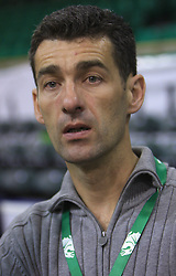 Marko Simeunovic at basketball match of 3rd Round of Euroleague between KK Union Olimpija (SLO) and Lottomatica Roma (ITA), in Arena Tivoli, Ljubljana, Slovenia, on November 6, 2008. Lottomatica  won the match 78:67.