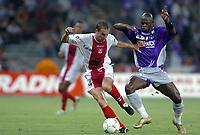 Fotball<br /> Frankrike 2004/05<br /> Toulouse v Ajaccio<br /> 11. september 2004<br /> Foto: Digitalsport<br /> NORWAY ONLY<br />  DAVID TERRIER (AJA) / ACHILLE EMANA (TOU)