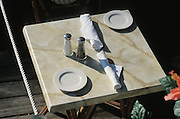 Small table set for two