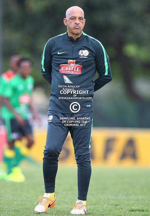 Owen Da Gama (Head Coach) of Bafana Bafana during the Bafana Bafana Training at People's Park, Moses Mabhida Stadium in Durban,21st March 2017 (Steve Haag)