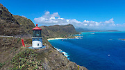 Lighthouse, Makapuu Beach, Oahu, Hawaii