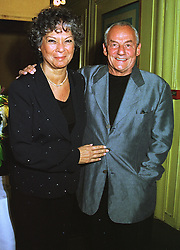 MR & MRS JOHNNY GOLD he is the owner of Tramp nightclub, at a dinner in London on 20th July 1998.MJE 59