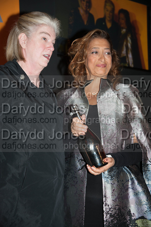 Dame Marjorie Scardino;; DAME ZAHA HADID named Veuve Clicquot businesswoman of the year- The Veuve Clicquot Business Woman Of The Year Award, celebrating women's excellence in business and commitment to sustainability. Claridge's, Brook Street, London, 22 April 2013