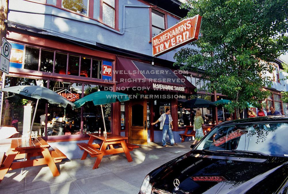 Image of McMenamins Tavern in the Nob Hill neighborhood of Portland, Oregon, Pacific Northwest