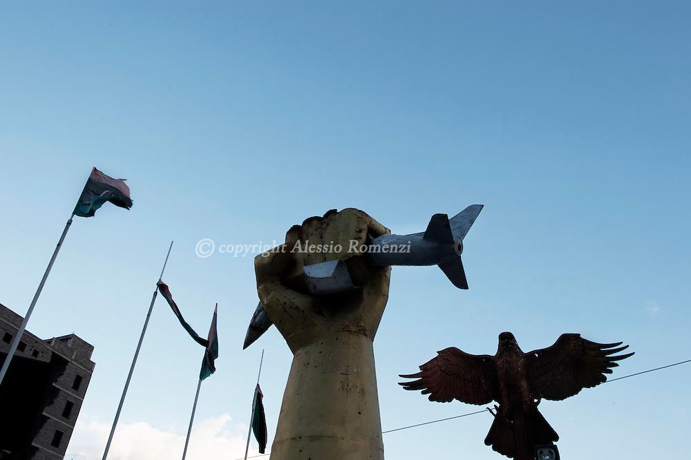 Libya, Misurata: Monument in front the Misurata war museum. Alessio Romenzi