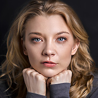 Actress Natalie Dormer, star of Game of Thrones, The Hunger Games and The Tudors. Sat for a portrait at the London Studio several weeks ago. I wrote to Natalie inviting her to sit for my Expressive Portraits Project just over a year ago; it just goes to show how many letters and requests she receives. Natalie is exceptionally talented with an incredible natural beauty. As a realist portrait photographer Natalie was a little apprehensive of my style. In the modern world people are obsessed with removing the detail through