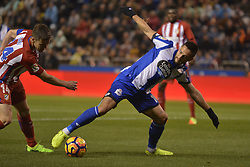 March 2, 2017 - La Coruna, Spain - Andone and Gabi. La Liga Santander Matchday 25. Riazor Stadium, La Coruna, Spain. March 02, 2017. (Credit Image: © Monica Arcay Carro/VW Pics via ZUMA Wire/ZUMAPRESS.com)