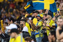 September 10, 2018 - Stockholm, SVERIGE - 180910 Fans of Sweden during the Nations League match between Sweden and Turkey on september 10, 2018 in Stockholm  (Credit Image: © Simon HastegRd/Bildbyran via ZUMA Press)
