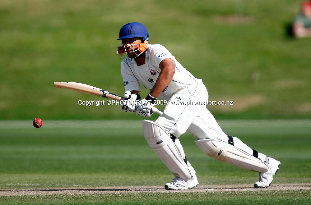 Auckland batsman Romi Bopara. Canterbury Wizards v Auckland Aces, Plunket Shield Domestic 4 day, QEII Park Oval, Christchurch, New Zealand. Wednesday 25 November 2009. CricketPhoto: Simon Watts/PHOTOSPORT