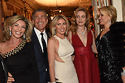 LISA TCHENGUIZ; ; STEVE VORSARI; HOFIT GOLAN; NATALIA VODIANOVA; ELENA LIKHACH, The Backstage Gala in aid of the Naked Heart Foundation. Coliseum theatre. London. 17 April 2015