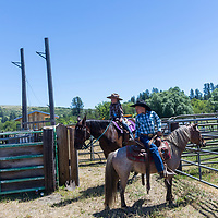 Children's Rodeo practice in Elgin, Oregon
