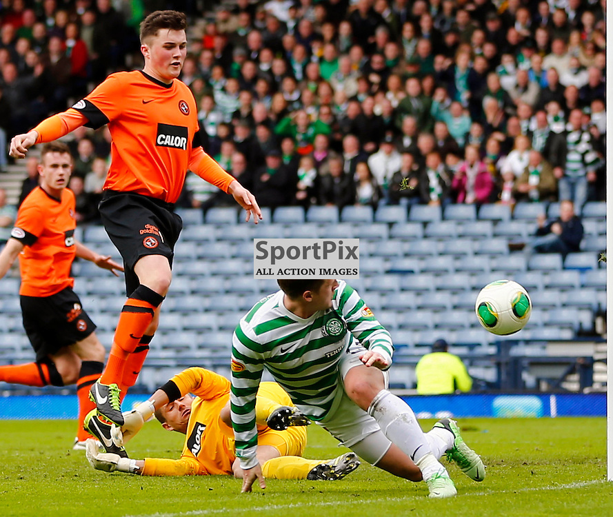 Dundee United v Celtic Scottish Cup Semi Final..Kris Commons misses the goal.....(c) STEPHEN LAWSON | StockPix.eu