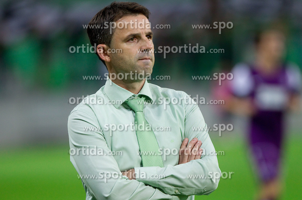Dusan Kosic, head coach of NK Olimpija Ljubljana during football match between NK Olimpija Ljubljana (SLO) and FK Austria Wien (AUT) of 1st Leg of Europa League Third Qualifying Round, on July 28, 2011, in SRC Stozice, Ljubljana, Slovenia.   (Photo by Vid Ponikvar / Sportida)