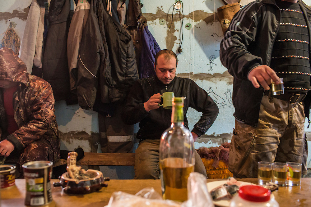 Fishermen prepare for a day of work on Saturday, April 11, 2015 in Siedove, Ukraine.