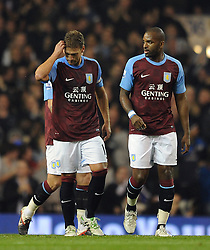 21.11.2011, White Hart Lane Stadion, London, ENG, PL, Tottenham Hotspur vs Aston Villa, 12. Spieltag, im Bild Aston Villa's Stiliyan Petrov looks dejected during the football match of English premier league, 12th round, between Tottenham Hotspur and Aston Villa at White Hart Lane Stadium, London, United Kingdom on 21/11/2011. EXPA Pictures © 2011, PhotoCredit: EXPA/ Sportida/ Chris Brunskill..***** ATTENTION - OUT OF ENG, GBR, UK *****