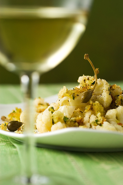 cauliflower and capers crumble